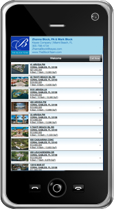 Search Properties on your mobile phone.