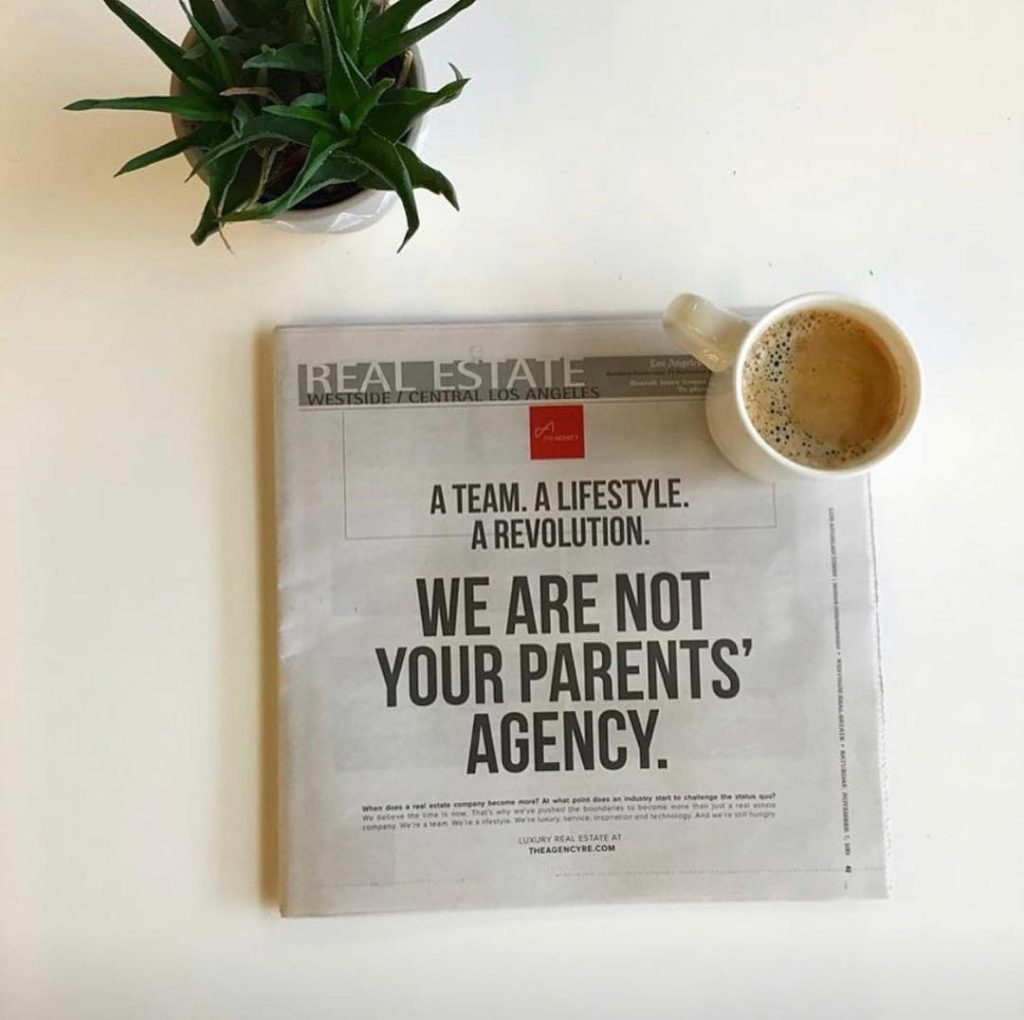 We are not your parents realtor sign